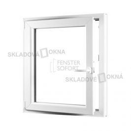 SKLADOVA-OKNA.cz, Jednokřídlé plastové okno PREMIUM, otvíravo-sklopné levé, 800 x 1000 mm, barva bílá