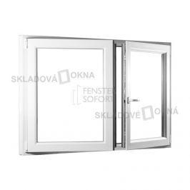 SKLADOVA-OKNA.cz, Dvoukřídlé plastové okno se štulpem PREMIUM, 1350 x 1100 mm, barva bílá