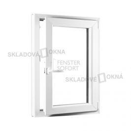 Skladova-okna Jednokřídlé plastové okno PREMIUM otvíravo-sklopné pravé 650 x 1000 mm barva bílá