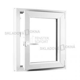 Skladova-okna Jednokřídlé plastové okno PREMIUM otvíravo-sklopné pravé 650 x 800 mm barva bílá