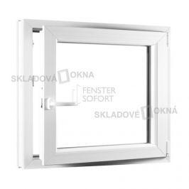 SKLADOVA-OKNA.cz, Jednokřídlé plastové okno PREMIUM, otvíravo-sklopné pravé, 800 x 800 mm, barva bílá