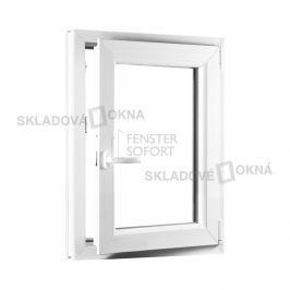 Skladova-okna Jednokřídlé plastové okno PREMIUM otvíravo-sklopné pravé 500 x 800 mm barva bílá