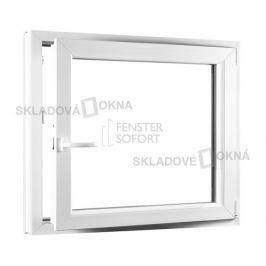 SKLADOVA-OKNA.cz, Jednokřídlé plastové okno PREMIUM, otvíravo-sklopné pravé, 950 x 900, barva bílá
