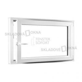 Skladova-okna Jednokřídlé plastové okno PREMIUM otvíravo-sklopné pravé 1100 x 800 mm barva bílá