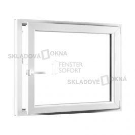 SKLADOVA-OKNA.cz, Jednokřídlé plastové okno PREMIUM, otvíravo-sklopné pravé, 1100 x 1000 mm, barva bílá