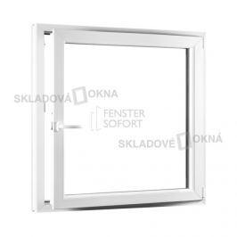 SKLADOVA-OKNA.cz, Jednokřídlé plastové okno PREMIUM, otvíravo-sklopné pravé, 1100 x 1200, barva bílá