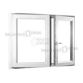 Skladova-okna Dvoukřídlé plastové okno se štulpem PREMIUM 1250 x 1100 mm barva bílá