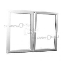Skladova-okna Dvoukřídlé plastové okno se středovým sloupkem PREMIUM 1760 x 1540 mm barva bílá