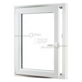 Skladova-okna Jednokřídlé plastové okno PREMIUM otvíravo-sklopné levé 650 x 800 barva bílá
