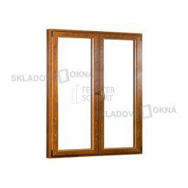 Dvoukřídlé plastové balkónové dveře PREMIUM - SKLADOVÁ-OKNA.cz - 1500 x 2080