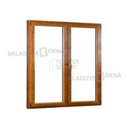 Dvoukřídlé plastové balkónové dveře PREMIUM - SKLADOVÁ-OKNA.cz - 1700 x 2080