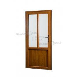 Skladova-okna Vedlejší vchodové dveře PREMIUM levé 880 x 2080 mm barva bílá/zlatý dub