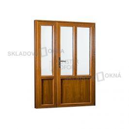 Vedlejší vchodové dveře dvoukřídlé, pravé, PREMIUM - SKLADOVÁ-OKNA.cz - 1380 x 2080