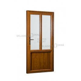 SKLADOVÁ-OKNA.cz, Vedlejší vchodové dveře PREMIUM, pravé, 880 x 2080 mm, barva bílá/zlatý dub