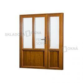 Skladova-okna Vedlejší vchodové dveře dvoukřídlé levé PREMIUM - 1580 x 2080