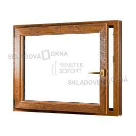 Jednokřídlé plastové okno PREMIUM, otvíravo-sklopné levé - SKLADOVÁ-OKNA.cz - 1100 x 1000