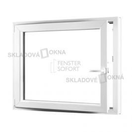 KLADOVÁ-OKNA.cz, Jednokřídlé plastové okno PREMIUM, otvíravo-sklopné levé, 1100 x 1000 mm, barva bílá
