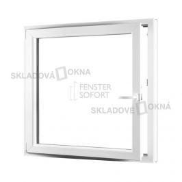Skladova-okna Jednokřídlé plastové okno PREMIUM otvíravo-sklopné levé 1100 x 1200 mm barva bílá