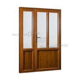 POŠKOZENÉ! Vedlejší vchodové dveře dvoukřídlé, pravé, PREMIUM