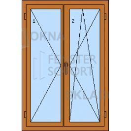 Skladova-okna PREMIUM Dvoukřídlé plastové okno se štulpem 1000 x 1500
