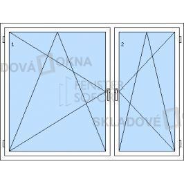 DOPRODEJ! Dvoukřídlé plastové okno se středovým sloupkem PREMIUM KLASIK