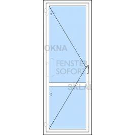 DOPRODEJ! Jednokřídlé plastové balkónové dveře PREMIUM KLASIK, levé