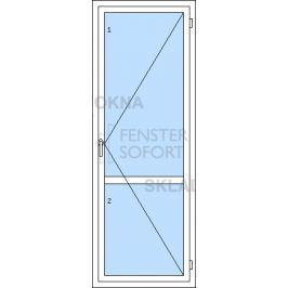 DOPRODEJ! Jednokřídlé plastové balkónové dveře PREMIUM KLASIK, pravé