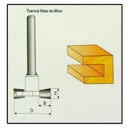 Fréza tvarová do dřeva F17 -  8x9,4mm