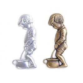 Emblém WC panáček ST4v - stříbrný