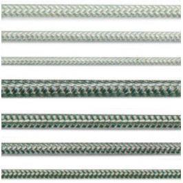 Lana a šňůry PA pletená Lanex - 10mm s jádrem bílé