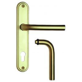 Rostex Orion štítové dveřní kování - klika-klika pro klíč 72mm Nerez mat