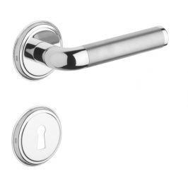 Rostex Real/S rozetové dveřní kování - klika - knoflík pro klíč Ti