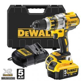 DeWALT DCD795P2 bezuhlíková aku příklepová vrtačka 18V 2x5.0Ah