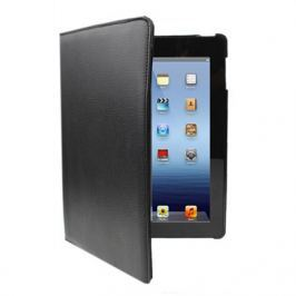 Kožený kryt / pouzdro Rotation Litchi pro iPad 2 / 3 / 4 černý