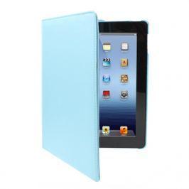 Kožený kryt / pouzdro Rotation Litchi pro iPad 2 / 3 / 4 modrý