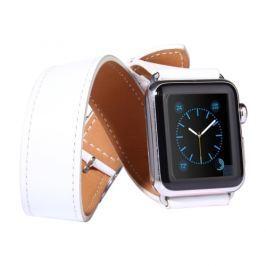 Kožený pásek / řemínek Double Circle pro Apple Watch 42mm bílý Řemínky a pásky pro Apple Watch 42mm