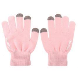 Dámské kapacitní rukavice Hawell pro ovládání dotykových zařízení - růžové