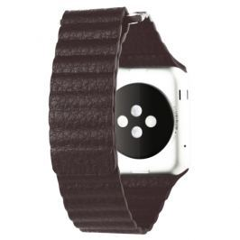 Pásek / řemínek iSaprio Magnetic Leather pro Apple Watch 42mm hnědý