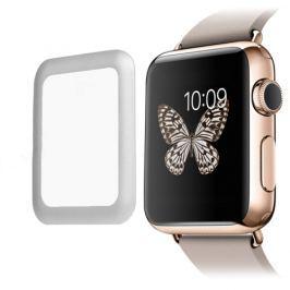 Tvrzené sklo 3D pro Apple Watch 38mm stříbrné
