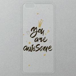 Výměnné akrylové sklo iSaprio Alu pro iPhone 6 / 6S - You Are Awesome - black
