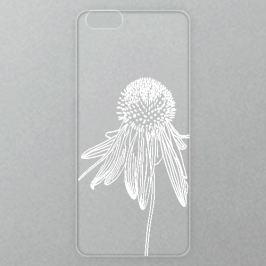Výměnné akrylové sklo iSaprio Alu pro iPhone 6 / 6S - White Flower 02