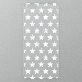 Výměnné akrylové sklo iSaprio Alu pro iPhone 6 / 6S - Stars Pattern - white