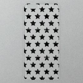 Výměnné akrylové sklo iSaprio Alu pro iPhone 6 / 6S - Stars Pattern - black