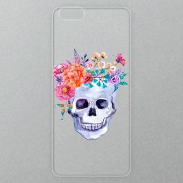 Výměnné akrylové sklo iSaprio Alu pro iPhone 6 / 6S - Skull With Flowers 01
