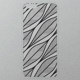 Výměnné akrylové sklo iSaprio Alu pro iPhone 6 / 6S - Leafs 01 - black