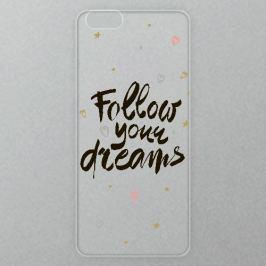 Výměnné akrylové sklo iSaprio Alu pro iPhone 6 / 6S - Follow Your Dreams - black