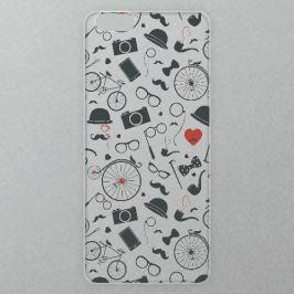 Výměnné akrylové sklo iSaprio Alu pro iPhone 6 / 6S - Vintage Pattern 01 - black