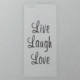 Výměnné akrylové sklo iSaprio Alu pro iPhone 6 / 6S - Live Laugh Love 01 - black