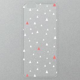 Výměnné akrylové sklo iSaprio Alu pro iPhone 6 / 6S - Abstract Triangles 02 - white