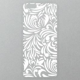 Výměnné akrylové sklo iSaprio Alu pro iPhone 6 / 6S - Abstract Flowers 08 - white